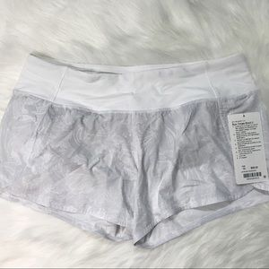 NWT LULULEMON Run Times short II Eternal White 10